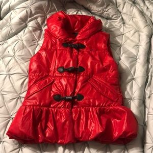 Nautica fleece lined puffer toggle vest size 8